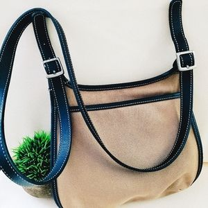 COACH saddle bag leather and canvas